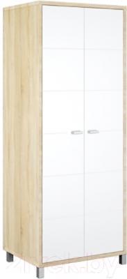 Шкаф Мебель-Неман Домино Сонома ВК-04-03 (белый полуглянец/дуб Сонома)