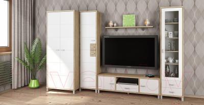 Шкаф Мебель-Неман Домино Сонома ВК-04-03 (белый полуглянец/дуб Сонома) - в интерьере