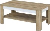 Журнальный столик Мебель-Неман Леонардо МН-221-01 (белый полуглянец/дуб Сонома) -