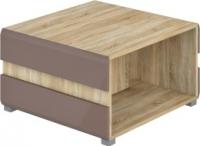 Журнальный столик Мебель-Неман Леонардо МН-026-04 (св.-коричневый глянец/дуб Сонома) -