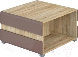 Журнальный столик Мебель-Неман Леонардо МН-026-04 (св.-коричневый глянец/дуб Сонома)
