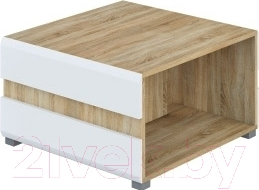 Журнальный столик Мебель-Неман Леонардо МН-026-04 (белый полуглянец/дуб Сонома)
