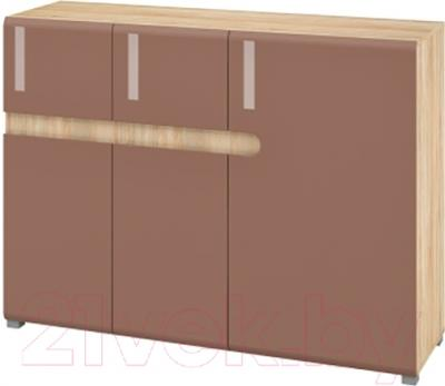 Тумба Мебель-Неман Леонардо МН-026-16 (светло-коричневый/дуб Сонома)
