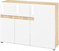 Тумба Мебель-Неман Леонардо МН-026-16 (белый полуглянец/дуб Сонома) -