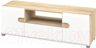 Тумба Мебель-Неман Леонардо МН-026-02 (белый полуглянец/дуб Сонома)