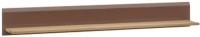 Полка Мебель-Неман Леонардо МН-026-05 (св.-коричневый глянец/дуб Сонома) -