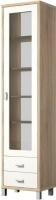 Шкаф-пенал Мебель-Неман Домино Сонома ВК-04-02 (белый полуглянец/дуб Сонома) -