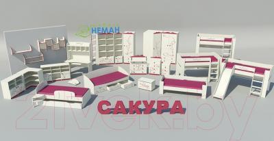 Двухъярусная кровать Мебель-Неман Сакура КР-3Д0