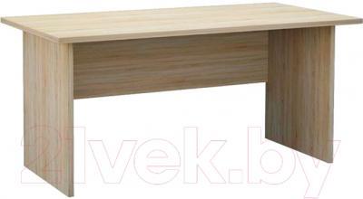 Письменный стол Мебель-Неман Домино Сонома ВК-04-31 (белый полуглянец/дуб Сонома)