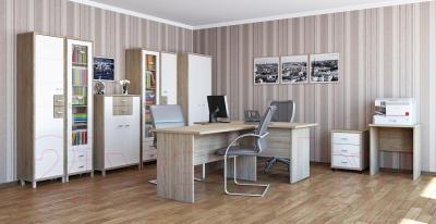 Письменный стол Мебель-Неман Домино Сонома ВК-04-32 (белый полуглянец/дуб Сонома)