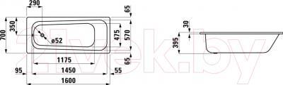 Ванна стальная Laufen Pro 160x70 (223950)