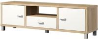 Тумба Мебель-Неман Домино Сонома ВК-04-04 (белый полуглянец/дуб Сонома) -