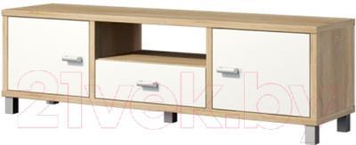 Тумба Мебель-Неман Домино Сонома ВК-04-04 (белый полуглянец/дуб Сонома)