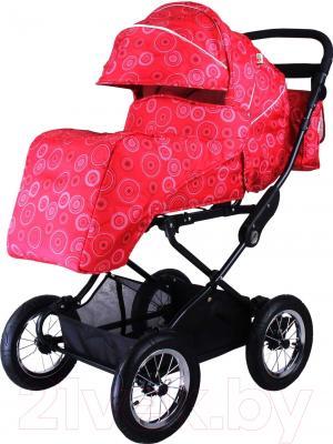 Детская универсальная коляска Babyhit Evenly Light (Red Flower)