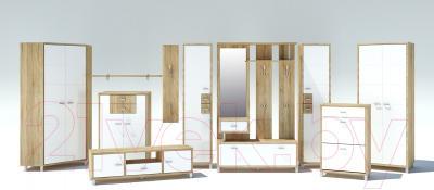 Полка Мебель-Неман Домино Сонома ВК-04-08 (белый полуглянец/дуб Сонома) - коллекция Домино