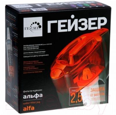 Фильтр питьевой воды Гейзер Альфа (красный, + дополнительный модуль)