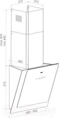 Вытяжка декоративная Zorg Technology Fabia 60 (черный/белый)