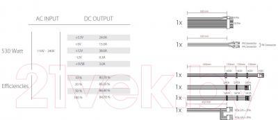 Блок питания для компьютера Xilence Performance A+ 530W (XP530R8)