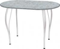 Обеденный стол Древпром Грация 110х68 (металлик/гобелен сталь) -