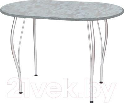 Обеденный стол Древпром Грация 110х68 (металлик/гобелен сталь)