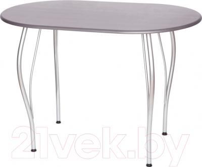 Обеденный стол Древпром Грация 110х68 (металлик/металлик)