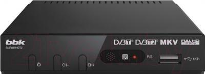 Тюнер цифрового телевидения BBK SMP019HDT2 (темно-серый)