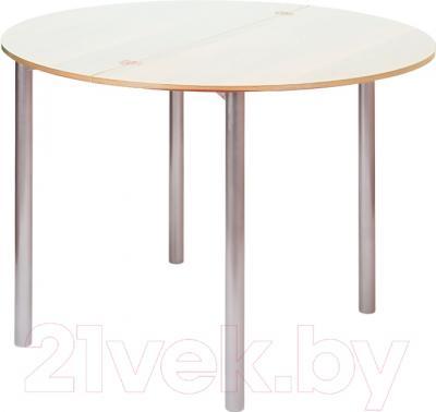Обеденный стол Древпром М2 90х50 (жемчуг/металлик)