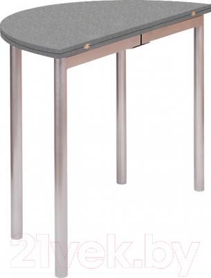 Обеденный стол Древпром М2 90х50 (металлик) - в сложенном виде