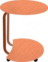 Сервировочный столик Древпром Придиванный (арабискат/дуб натуральный) -