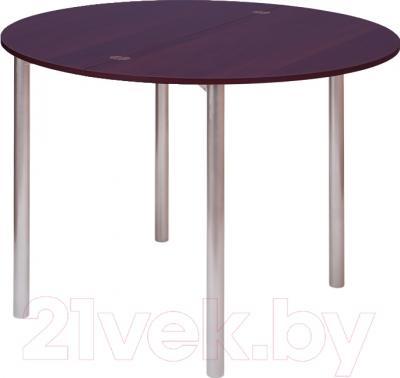 Обеденный стол Древпром М2 90х50 (орех/металлик)