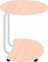 Сервировочный столик Древпром Придиванный (белый антик/дуб беленый рифленый) -