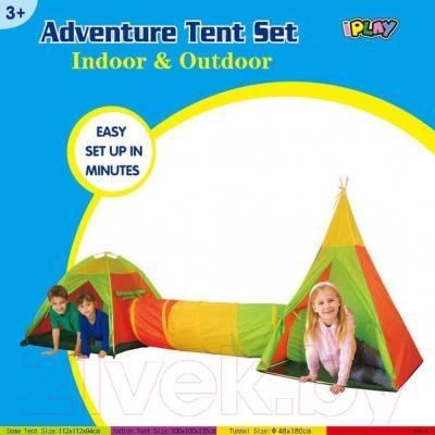 Детская игровая палатка IPlay 3в1 8703-15