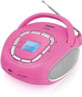 Магнитола BBK BS05 (розовый/серебристый) -