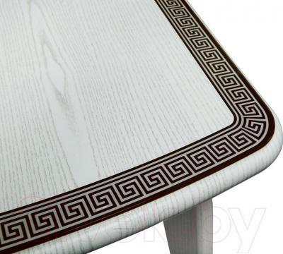 Обеденный стол Древпром Альба 113х71 Греческий Орнамент (антик белый/патина 27) - фрагмент орнамента