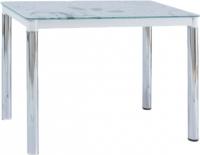 Обеденный стол Signal Damar II (белый/хром) -