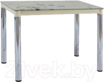Обеденный стол Signal Damar II (кремовый/хром)