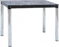 Обеденный стол Signal Damar II (черный/хром) -