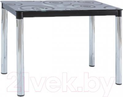 Обеденный стол Signal Damar II (черный/хром)