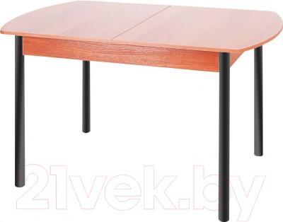 Обеденный стол Древпром М3 120x78 (черный матовый/ольха)