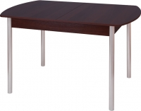 Обеденный стол Древпром М3 120х78 (металлик/орех) -