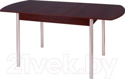 Обеденный стол Древпром М3 120x78 (металлик/орех) - в разложенном виде