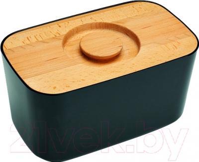 Хлебница Joseph Joseph Melamine Bread Bin with Cutting Board Lid 80042 (черный)