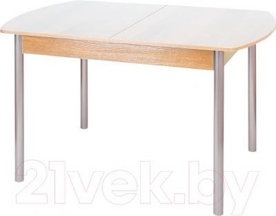 Обеденный стол Древпром М3 120х78 (металлик/ясень)