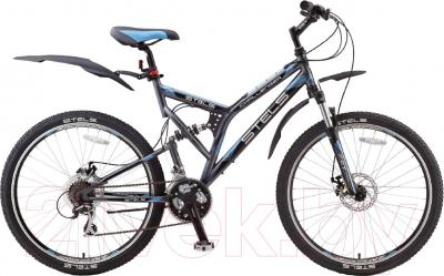 Велосипед Stels Challenger MD 2015 26 (темно-серый/черный/голубой)