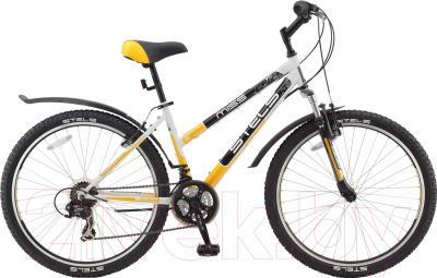 Велосипед Stels Miss 5000 V 2016 (18, белый/желтый/черный)