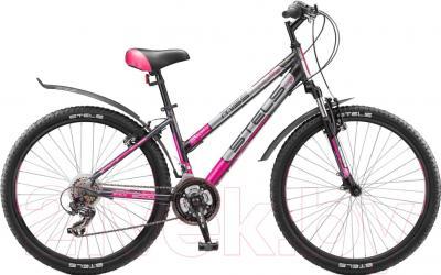 Велосипед Stels Miss 6000 V 2016 (17, серый/розовый/серебристый)