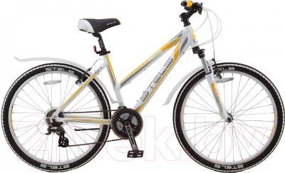 Велосипед Stels Miss 6300 V 2016 (17, белый/серый/желтый)