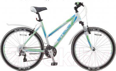 Велосипед Stels Miss 6500 V 2016 (19, белый/салатовый/голубой)