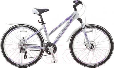 Велосипед Stels Miss 6700 MD 2016 (17, белый/серый/фиолетовый)