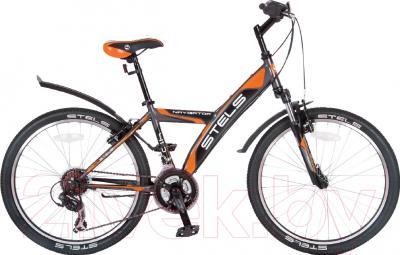 Велосипед Stels Navigator 410 V 2016 (серый/оранжевый/черный)